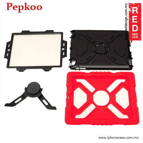 Picture of Apple New iPad 3rd Gen & 4th Gen Case | Pepkoo Drop Proof Protection Case for iPad 3 iPad 4 iPad 2 - Red
