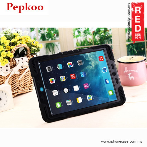 Picture of Apple iPad 9.7 2017 Case | Pepkoo Drop Proof Protection Case for Apple iPad 9.7 2017 - Black