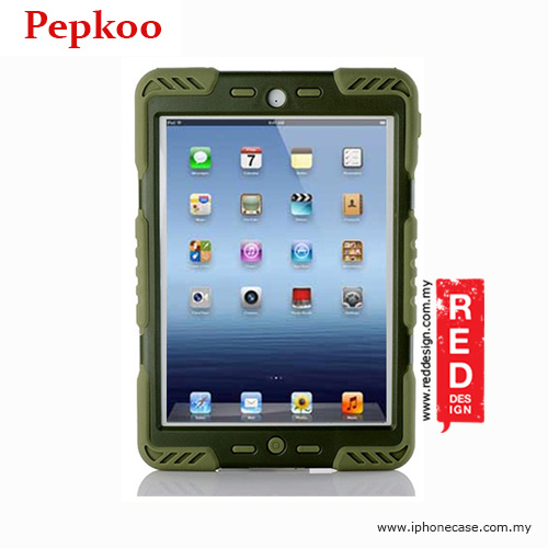 Picture of Apple iPad Mini Case | Pepkoo Drop Proof Protection Case for iPad Mini iPad Mini 2 & 3 - Army Green