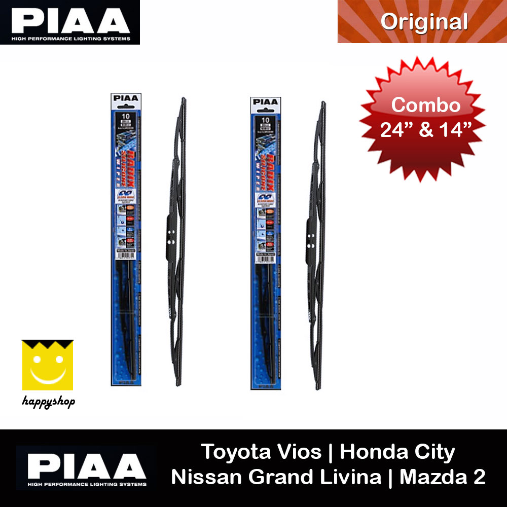 Picture of PIAA Radix Silicone Windscreen Wiper Made in Japan (Combo 24 & 14 ) for Honda City Toyota Vios Nissan Grand Livina Mazda 2 Red Design- Red Design Cases, Red Design Covers, iPad Cases and a wide selection of Red Design Accessories in Malaysia, Sabah, Sarawak and Singapore