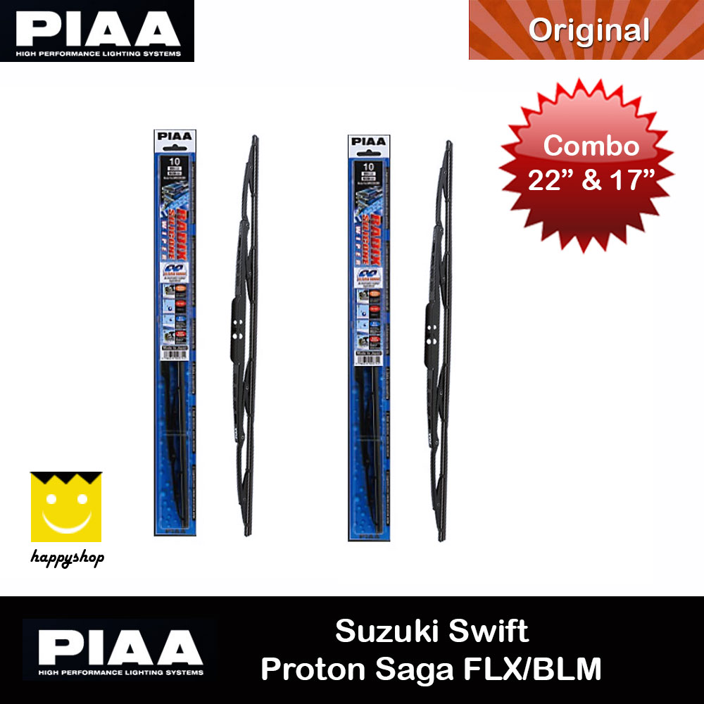 Picture of PIAA Radix Silicone Windscreen Wiper Made in Japan (Combo 22 & 17 ) for Suzuki Swift Proton Saga FLX BLM Red Design- Red Design Cases, Red Design Covers, iPad Cases and a wide selection of Red Design Accessories in Malaysia, Sabah, Sarawak and Singapore