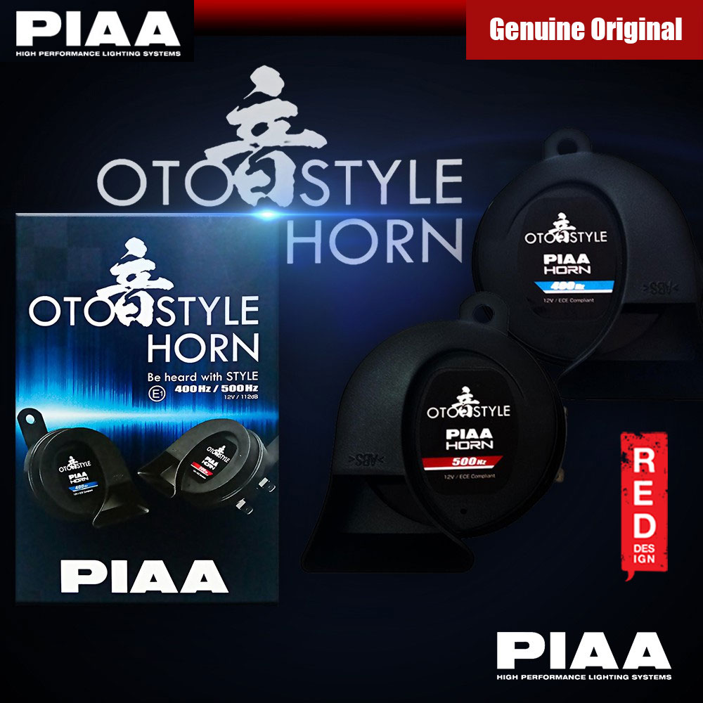 Picture of PIAA Oto Style Horn (2pcs in Box) Red Design- Red Design Cases, Red Design Covers, iPad Cases and a wide selection of Red Design Accessories in Malaysia, Sabah, Sarawak and Singapore