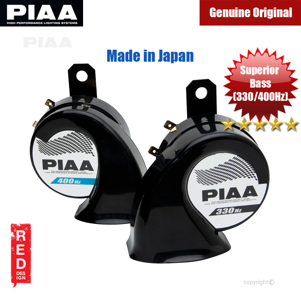Picture of PIAA SUPERIOR BASS HORN Deep Bass Tone 112dB HO-9(330Hz+400Hz) 12V Made in Japan (2pcs in Box) Red Design- Red Design Cases, Red Design Covers, iPad Cases and a wide selection of Red Design Accessories in Malaysia, Sabah, Sarawak and Singapore