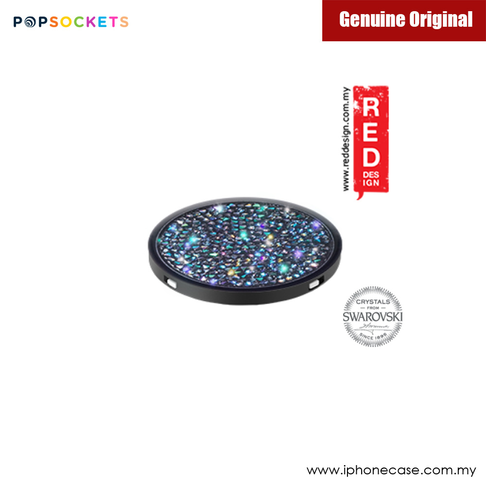 Picture of Popsockets A Phone Grip A Phone Stand An Earbud Management System Crystals from Swarovski (Midnight Crystal)