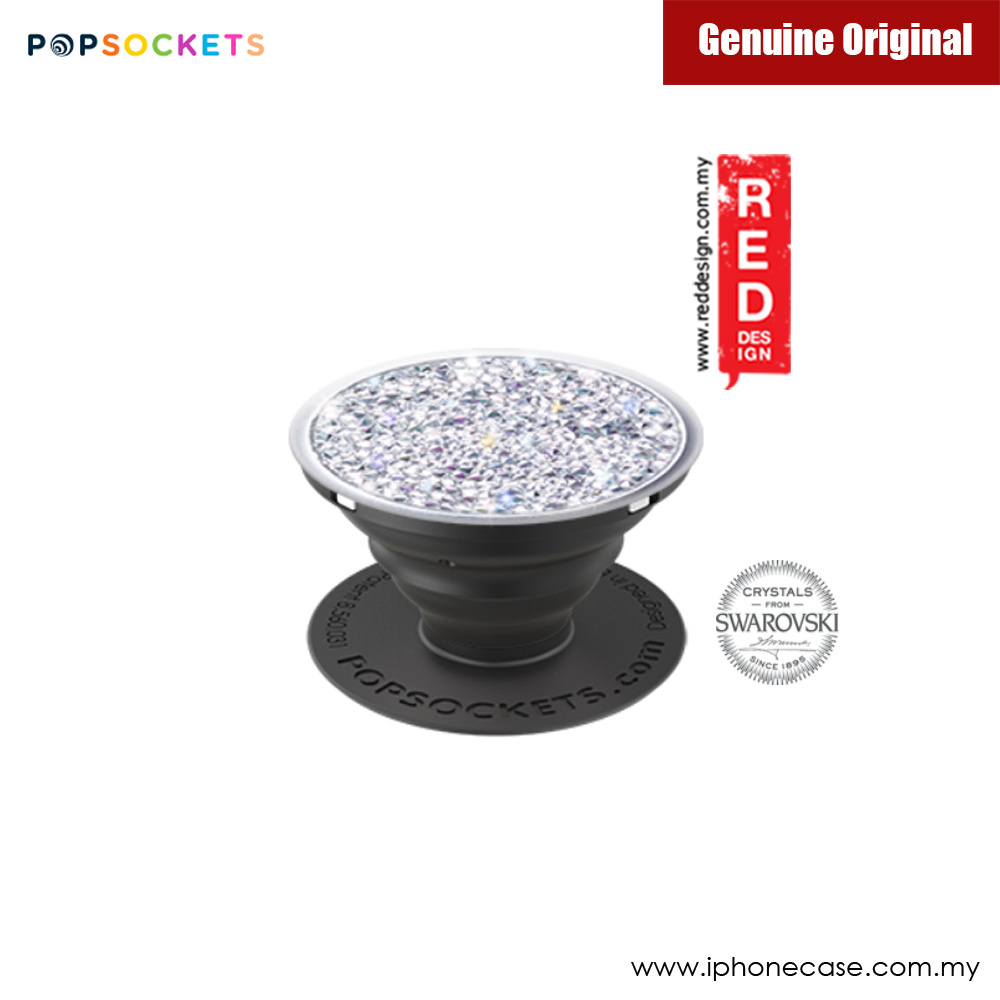 Picture of Popsockets A Phone Grip A Phone Stand An Earbud Management System Crystals from Swarovski (Silver Crystal) Red Design- Red Design Cases, Red Design Covers, iPad Cases and a wide selection of Red Design Accessories in Malaysia, Sabah, Sarawak and Singapore