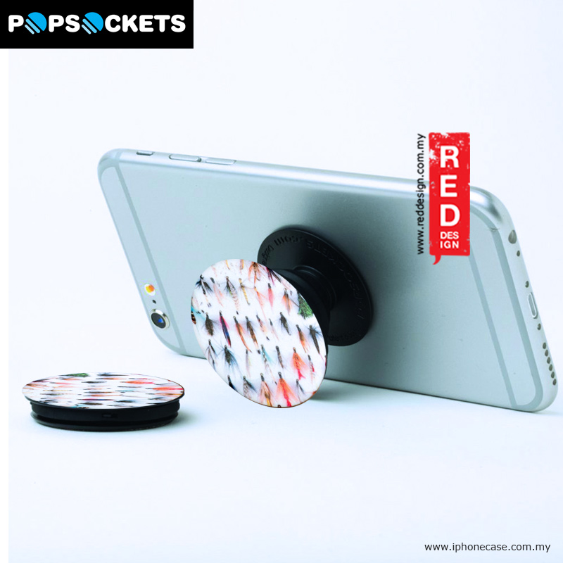 Picture of Popsockets A Phone Grip A Phone Stand An Earbud Management System - Fishing Flies Red Design- Red Design Cases, Red Design Covers, iPad Cases and a wide selection of Red Design Accessories in Malaysia, Sabah, Sarawak and Singapore