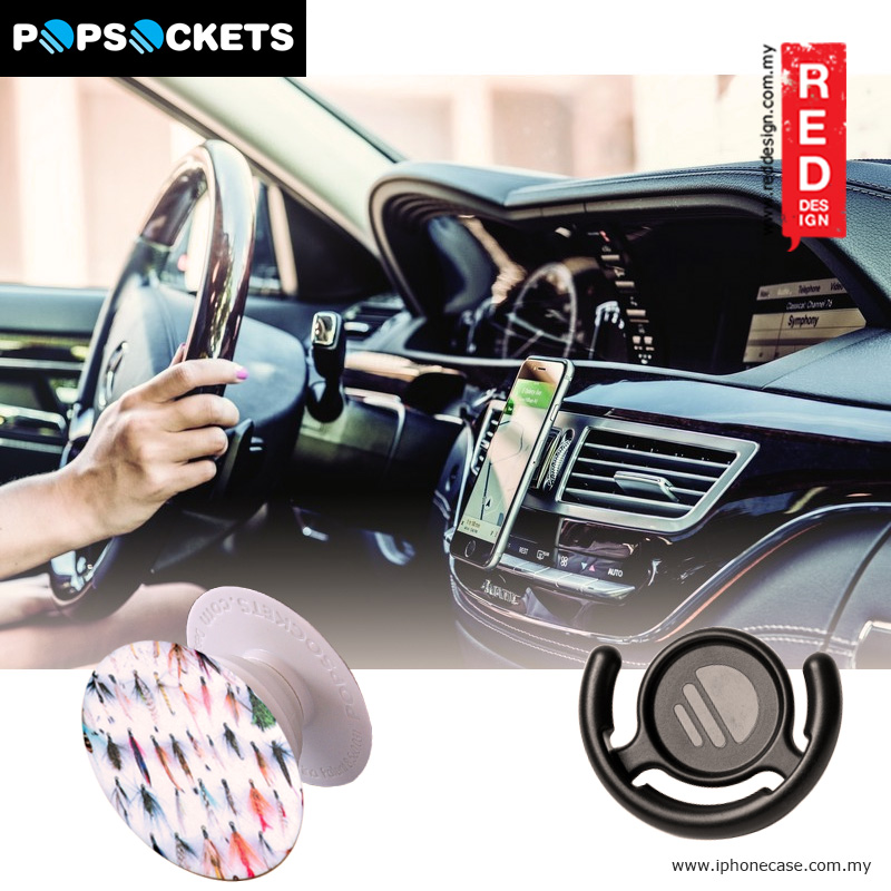 Picture of Popsockets A Phone Grip A Phone Stand An Earbud Management System - Fishing Flies with Popclip Red Design- Red Design Cases, Red Design Covers, iPad Cases and a wide selection of Red Design Accessories in Malaysia, Sabah, Sarawak and Singapore