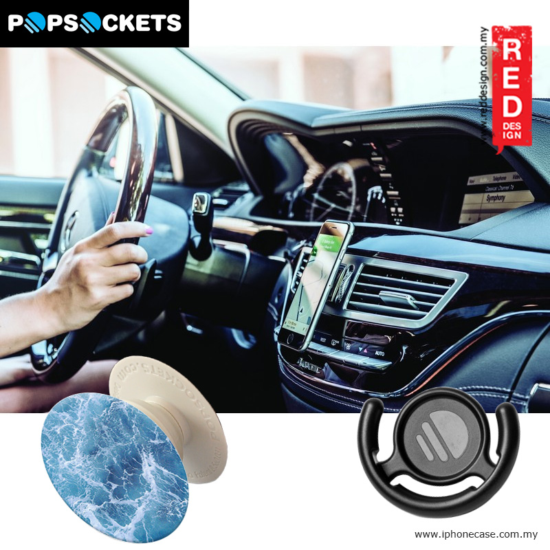 Picture of Popsockets A Phone Grip A Phone Stand An Earbud Management System - Ocean From The Sky with Popclip