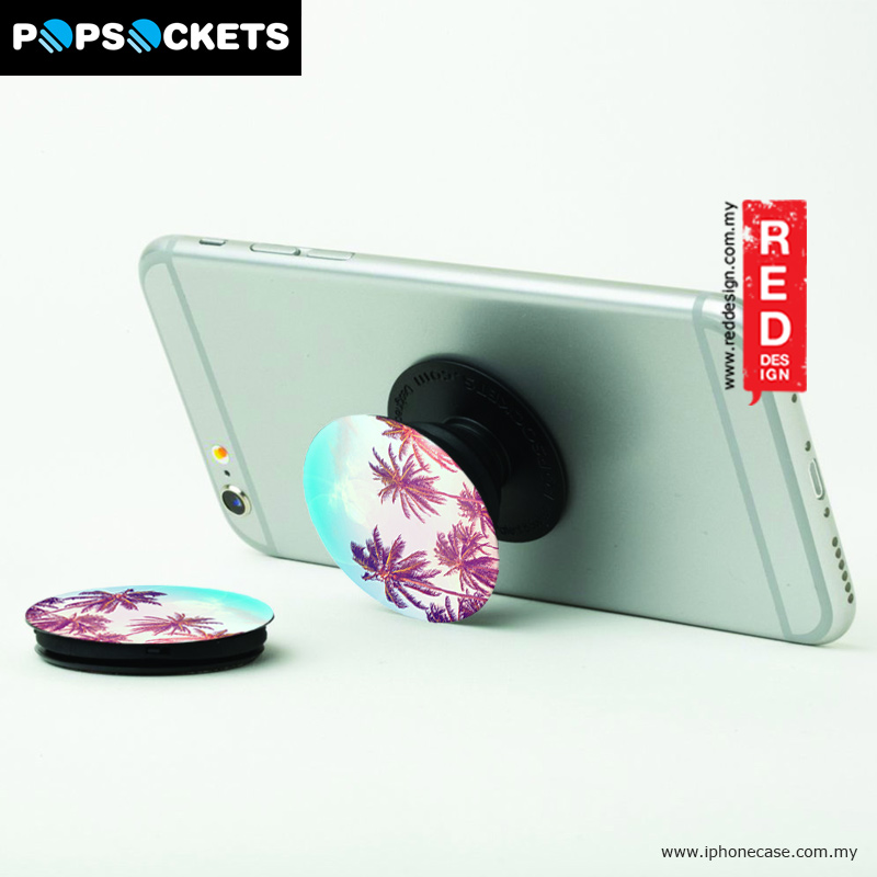 Picture of Popsockets A Phone Grip A Phone Stand An Earbud Management System - Palm Tree Red Design- Red Design Cases, Red Design Covers, iPad Cases and a wide selection of Red Design Accessories in Malaysia, Sabah, Sarawak and Singapore