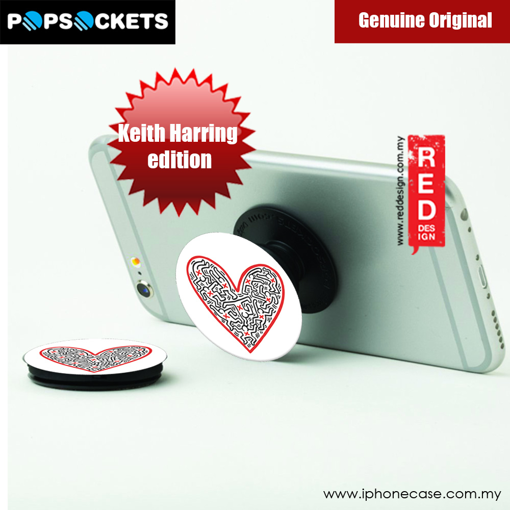 Picture of Popsockets A Phone Grip A Phone Stand An Earbud Management System (Figures in Heart) Licence: Keith Harring edition Red Design- Red Design Cases, Red Design Covers, iPad Cases and a wide selection of Red Design Accessories in Malaysia, Sabah, Sarawak and Singapore