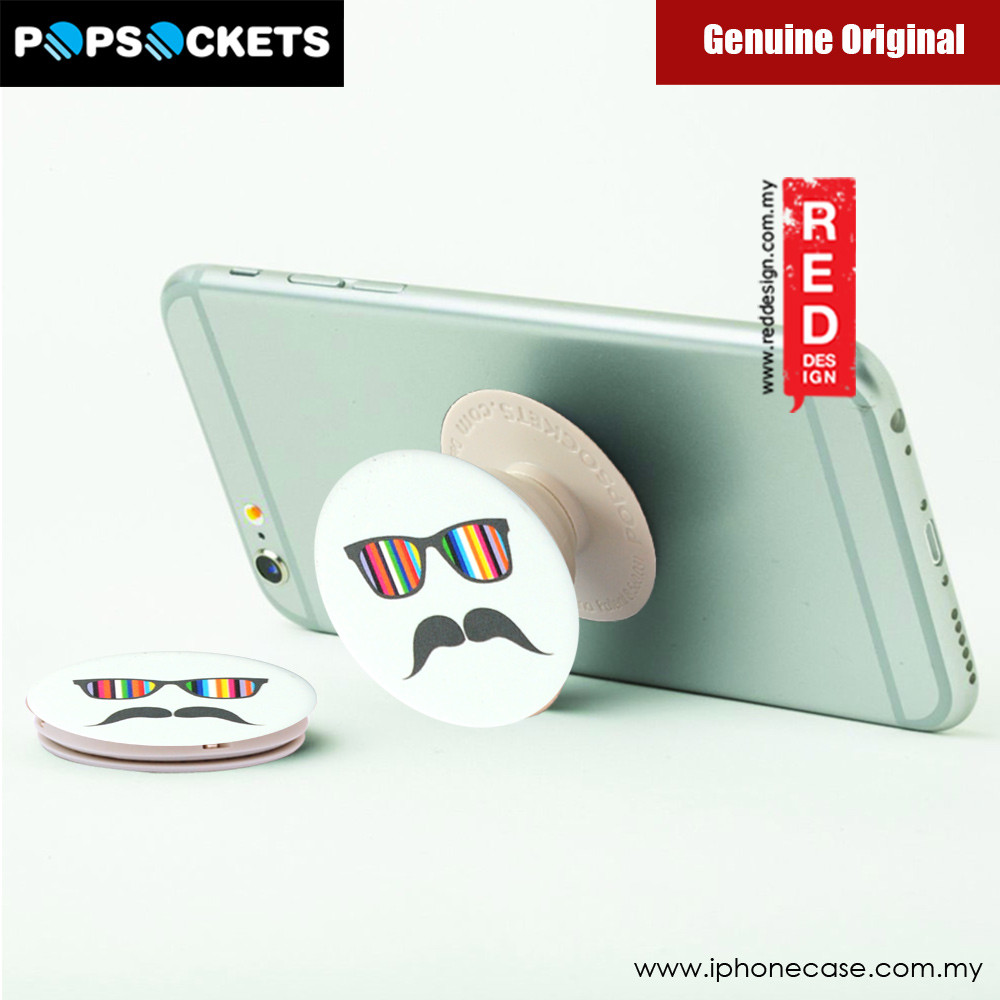 Picture of Popsockets A Phone Grip A Phone Stand An Earbud Management System (Mustache Rainbow)