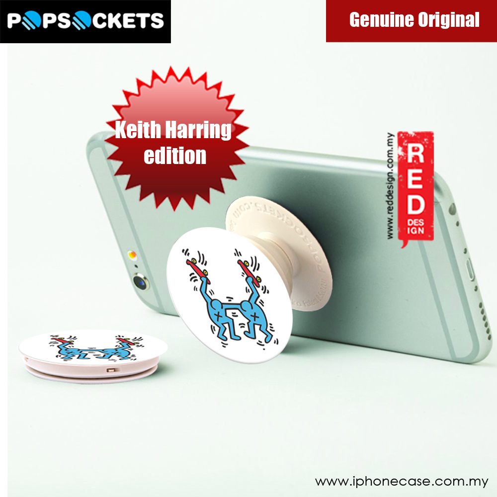 Picture of Popsockets A Phone Grip A Phone Stand An Earbud Management System (SKATEBOARDERS) Licence: Keith Harring edition
