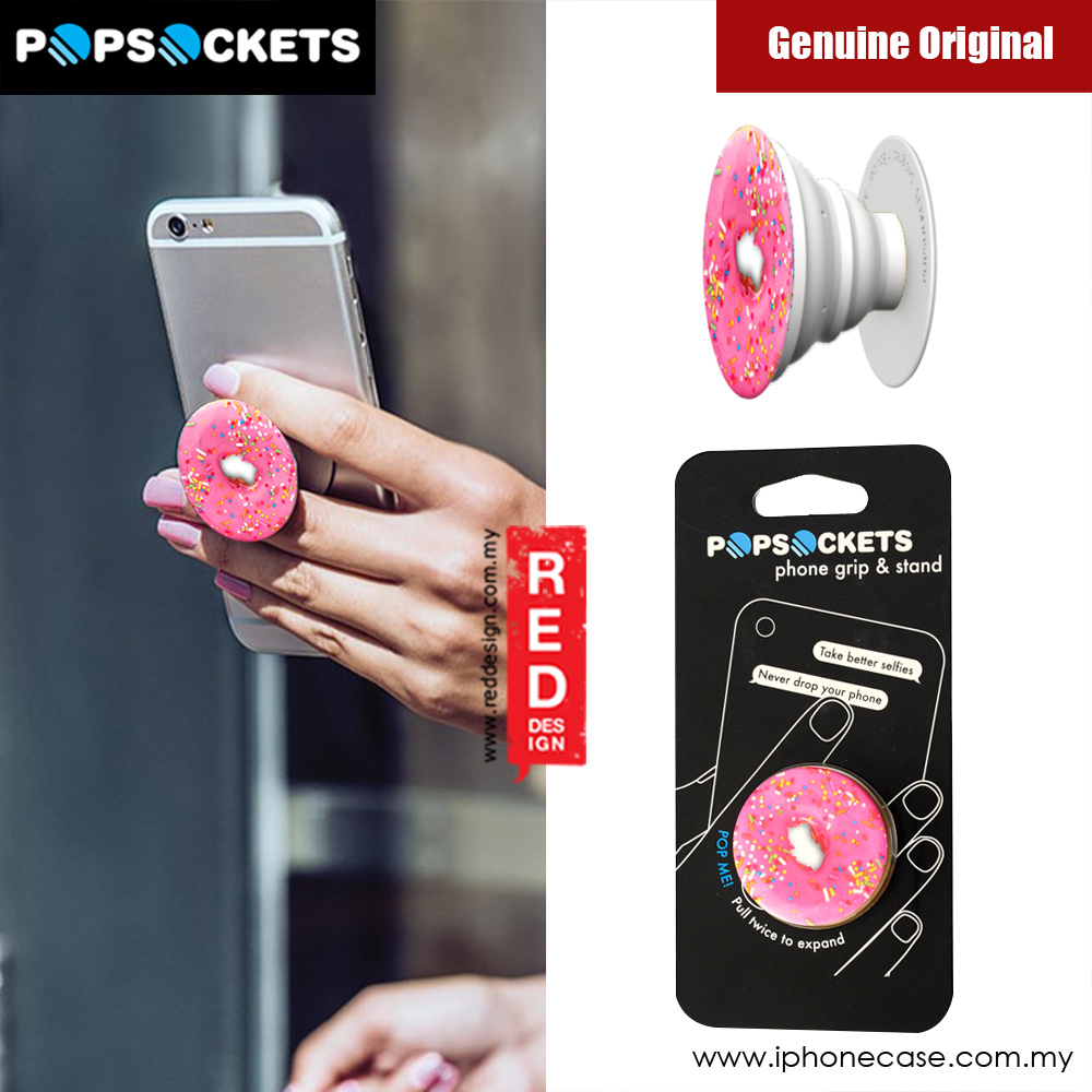 Picture of Popsockets A Phone Grip A Phone Stand An Earbud Management System - Pink Donut