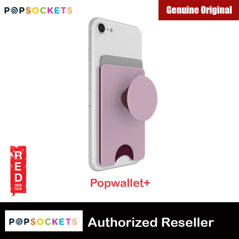 Picture of Popsocket Popwallet Plus Card Holder Credit Card Holder Parking Ticket Holder Card Wallet (Blush Pink) Red Design- Red Design Cases, Red Design Covers, iPad Cases and a wide selection of Red Design Accessories in Malaysia, Sabah, Sarawak and Singapore