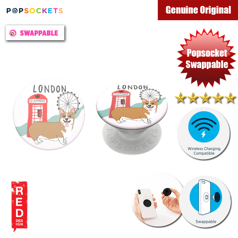 Picture of Popsockets PopGrip Swappable (London) Red Design- Red Design Cases, Red Design Covers, iPad Cases and a wide selection of Red Design Accessories in Malaysia, Sabah, Sarawak and Singapore