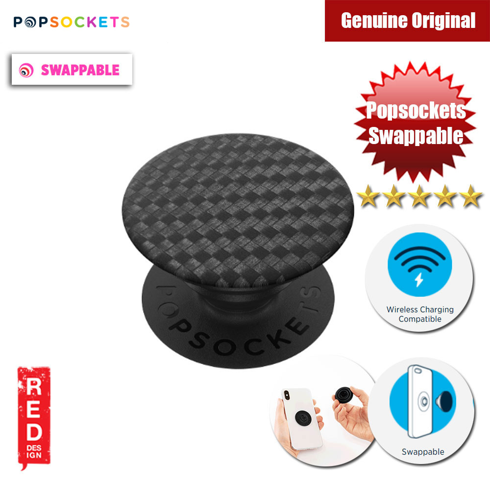 Picture of Popsockets PopGrip Swappable (Carbonite Weave) Red Design- Red Design Cases, Red Design Covers, iPad Cases and a wide selection of Red Design Accessories in Malaysia, Sabah, Sarawak and Singapore