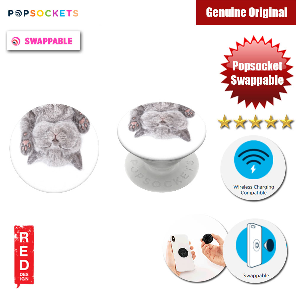 Picture of Popsockets PopGrip Swappable (Cat Nap) Red Design- Red Design Cases, Red Design Covers, iPad Cases and a wide selection of Red Design Accessories in Malaysia, Sabah, Sarawak and Singapore