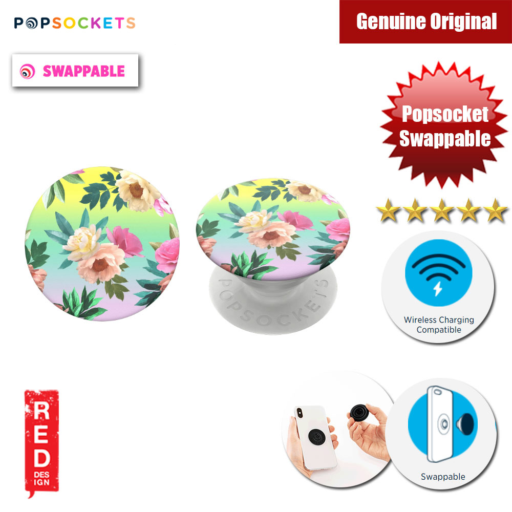 Picture of Popsockets PopGrip Swappable (Chroma Flora) Red Design- Red Design Cases, Red Design Covers, iPad Cases and a wide selection of Red Design Accessories in Malaysia, Sabah, Sarawak and Singapore
