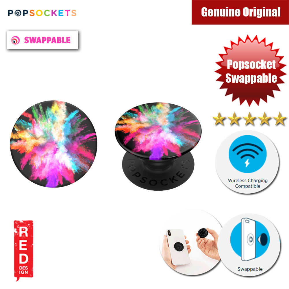 Picture of Popsockets PopGrip Swappable (Color Burst Gloss) Red Design- Red Design Cases, Red Design Covers, iPad Cases and a wide selection of Red Design Accessories in Malaysia, Sabah, Sarawak and Singapore