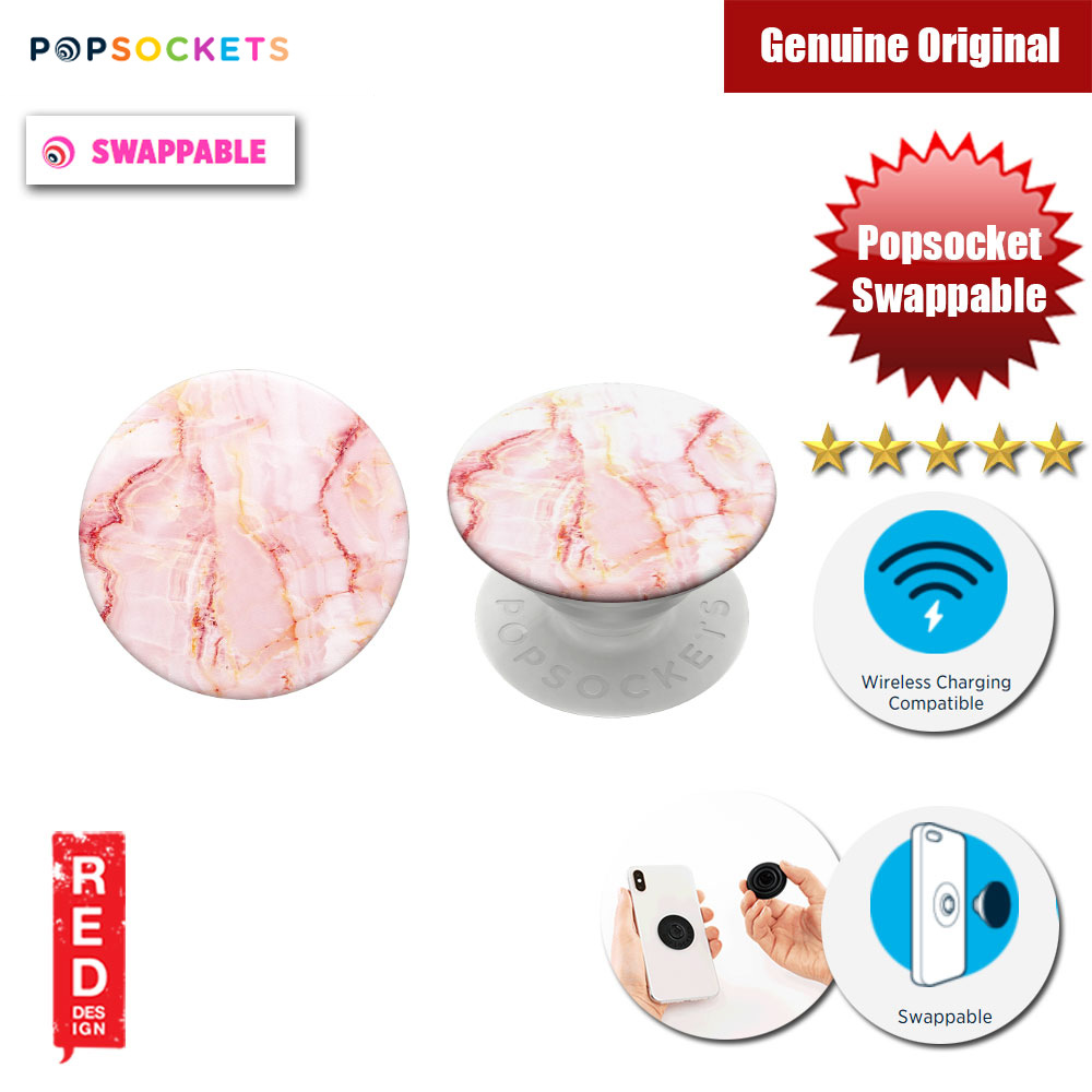 Picture of Popsockets PopGrip Swappable (Rose Marble) Red Design- Red Design Cases, Red Design Covers, iPad Cases and a wide selection of Red Design Accessories in Malaysia, Sabah, Sarawak and Singapore