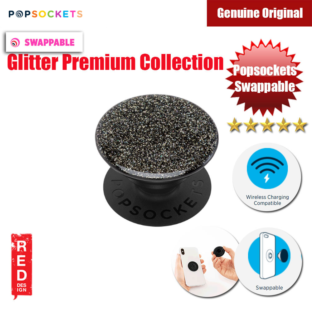 Picture of Popsockets PopGrip Swappable Premium Collection (Glitter Black) Red Design- Red Design Cases, Red Design Covers, iPad Cases and a wide selection of Red Design Accessories in Malaysia, Sabah, Sarawak and Singapore