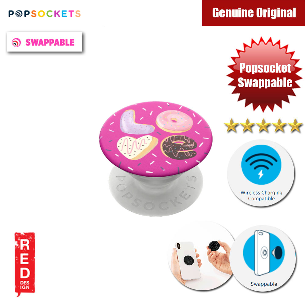 Picture of Popsockets PopGrip Swappable (Love Donut) Red Design- Red Design Cases, Red Design Covers, iPad Cases and a wide selection of Red Design Accessories in Malaysia, Sabah, Sarawak and Singapore