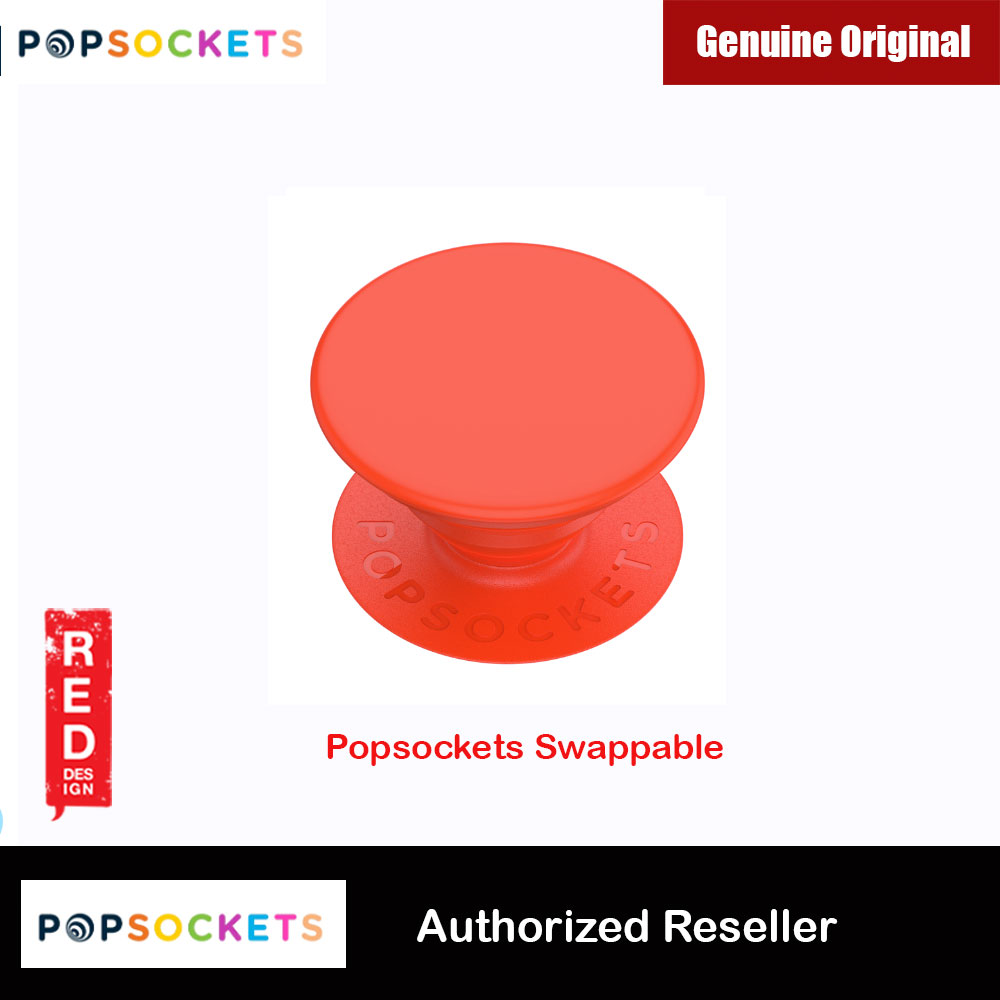 Picture of Popsockets PopGrip Swappable (Neon Electric Orange) Red Design- Red Design Cases, Red Design Covers, iPad Cases and a wide selection of Red Design Accessories in Malaysia, Sabah, Sarawak and Singapore