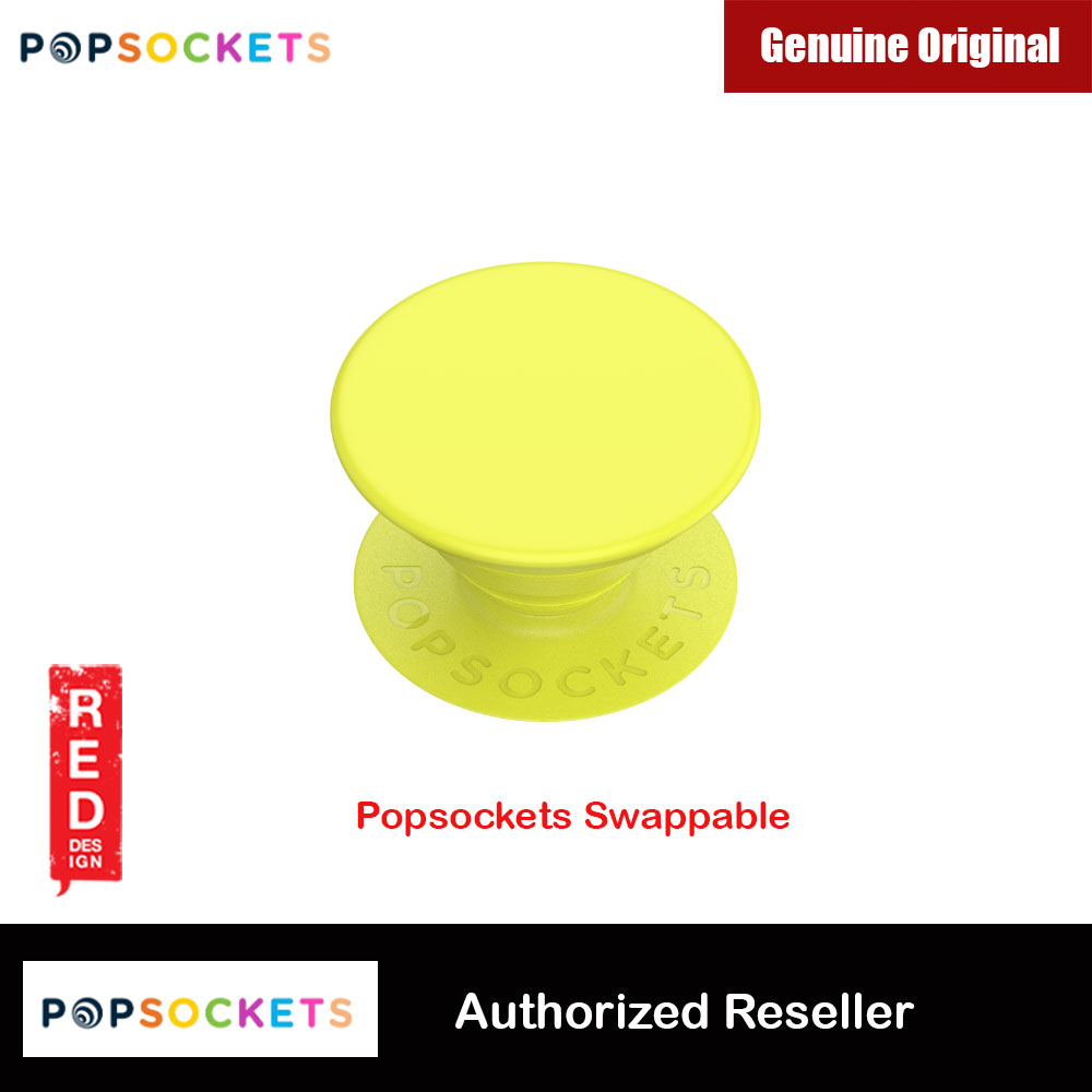 Picture of Popsockets PopGrip Swappable (Neon Jolt Yellow) Red Design- Red Design Cases, Red Design Covers, iPad Cases and a wide selection of Red Design Accessories in Malaysia, Sabah, Sarawak and Singapore