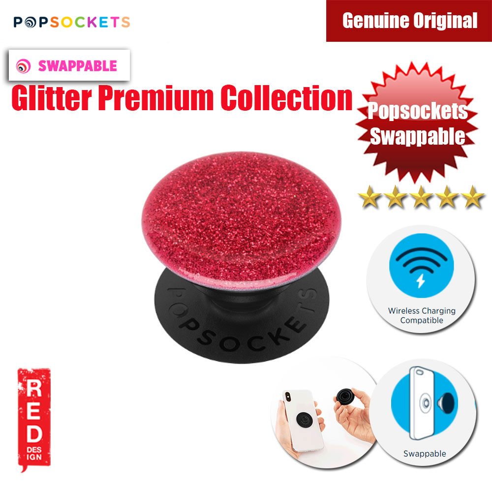 Picture of Popsockets PopGrip Swappable Premium Collection (Glitter Red) Red Design- Red Design Cases, Red Design Covers, iPad Cases and a wide selection of Red Design Accessories in Malaysia, Sabah, Sarawak and Singapore