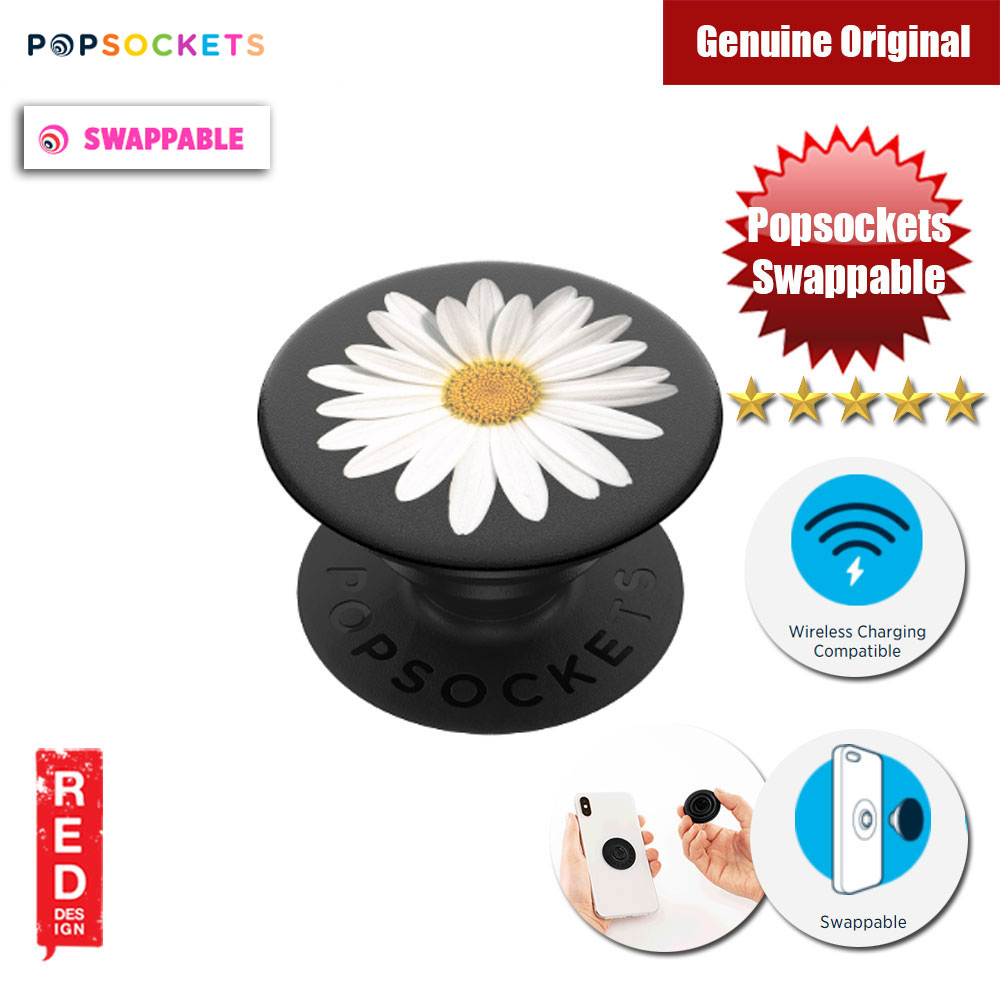 Picture of Popsockets PopGrip Swappable (White Daisy) Red Design- Red Design Cases, Red Design Covers, iPad Cases and a wide selection of Red Design Accessories in Malaysia, Sabah, Sarawak and Singapore