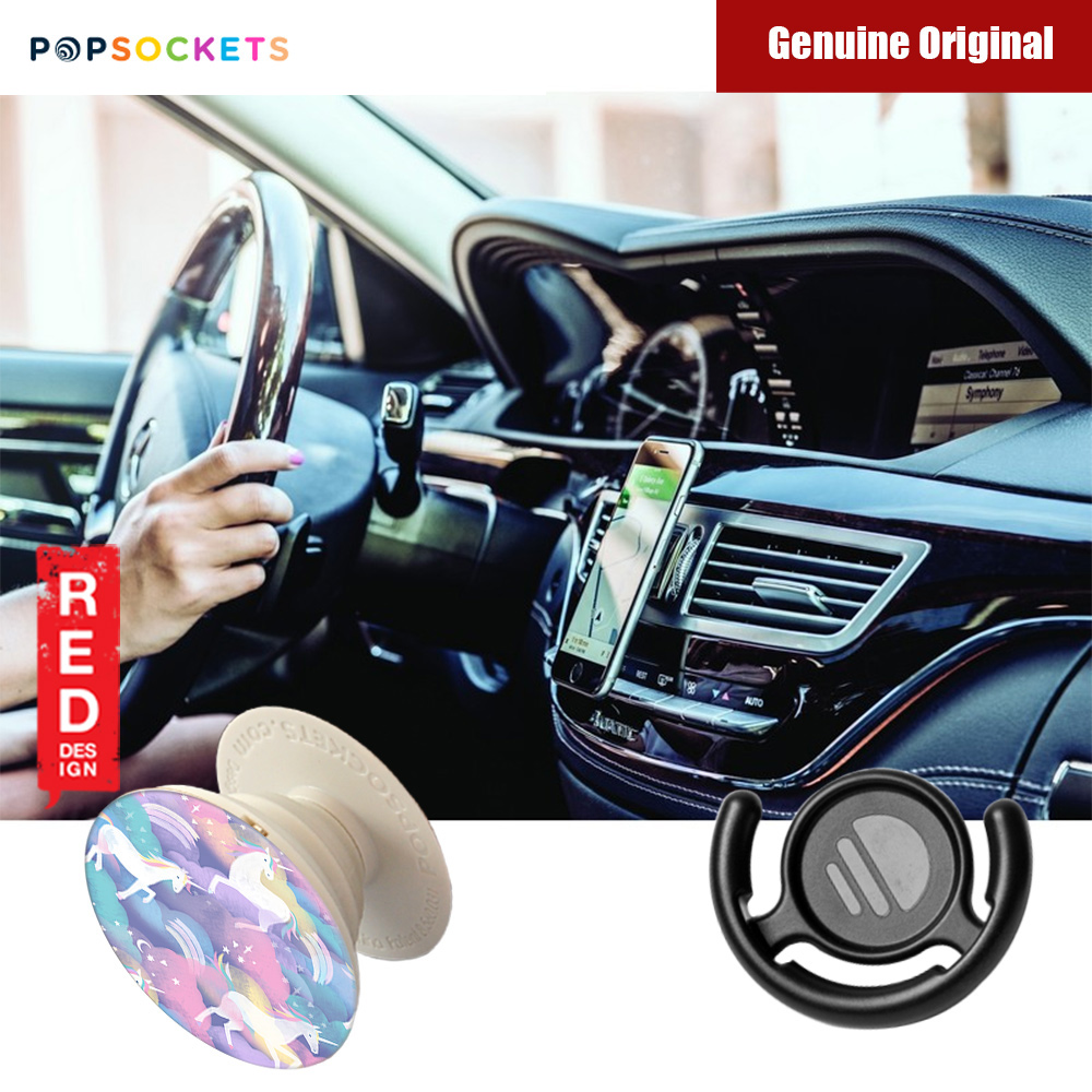 Picture of Popsockets A Phone Grip A Phone Stand An Earbud Management System (Unicorns in the Air with Popclip) Red Design- Red Design Cases, Red Design Covers, iPad Cases and a wide selection of Red Design Accessories in Malaysia, Sabah, Sarawak and Singapore