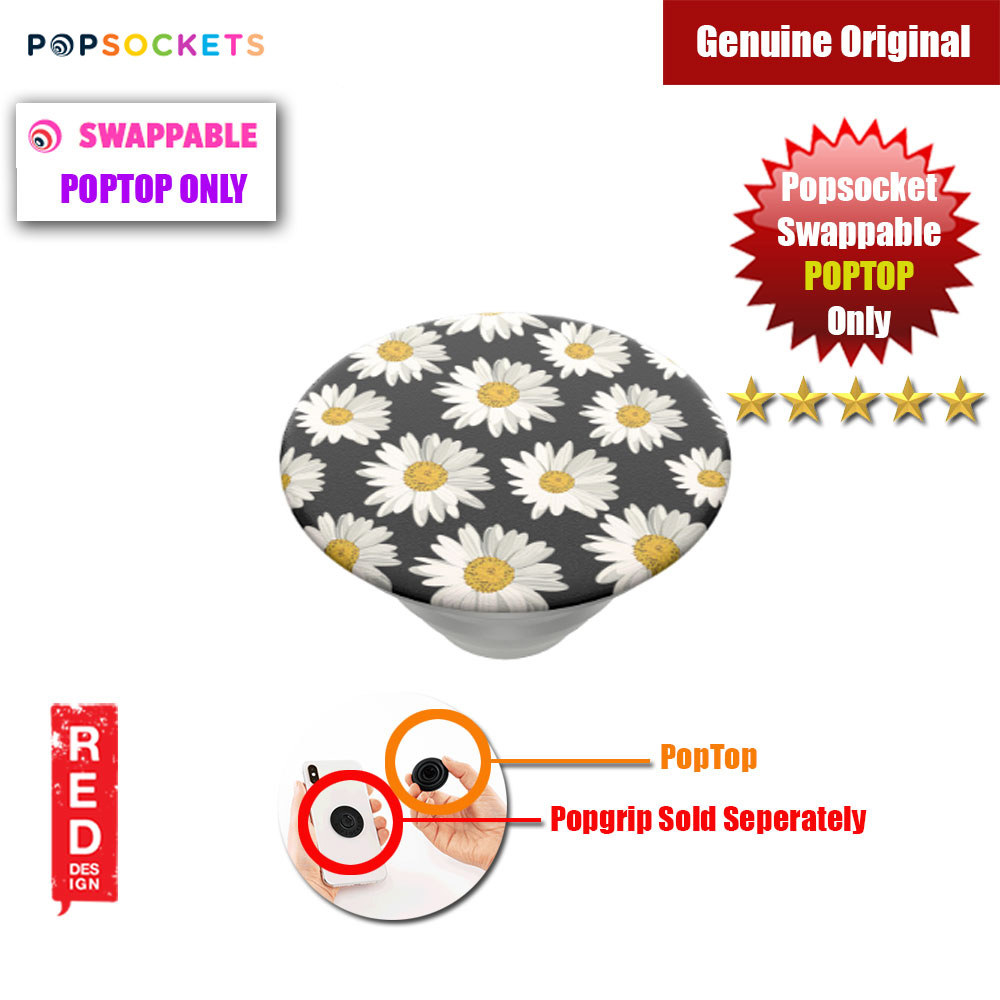 Picture of Popsockets PopGrip Swappable PopTop Only (Daisies Pattern Print) Red Design- Red Design Cases, Red Design Covers, iPad Cases and a wide selection of Red Design Accessories in Malaysia, Sabah, Sarawak and Singapore