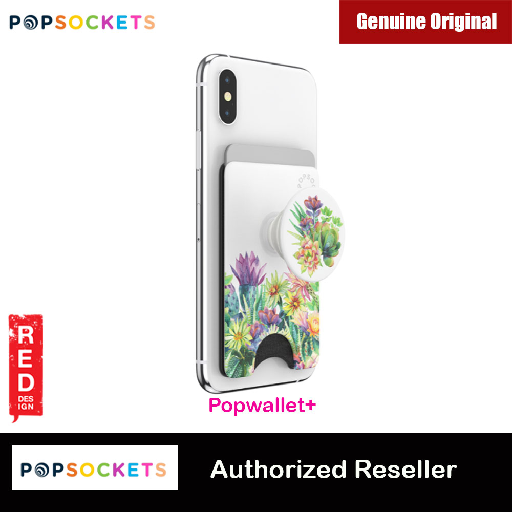Picture of Popsockets Popwallet Plus Card Holder Credit Card Holder Parking Ticket Holder Card Wallet (Succulent Garden) Red Design- Red Design Cases, Red Design Covers, iPad Cases and a wide selection of Red Design Accessories in Malaysia, Sabah, Sarawak and Singapore