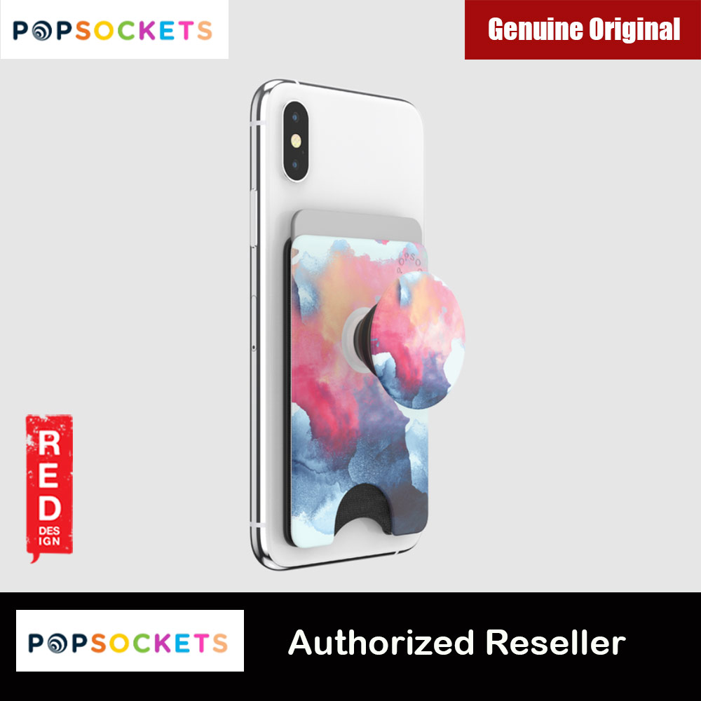 Picture of Popsockets Popwallet Plus Card Holder Credit Card Holder Parking Ticket Holder Card Wallet (Aura Smoke) Red Design- Red Design Cases, Red Design Covers, iPad Cases and a wide selection of Red Design Accessories in Malaysia, Sabah, Sarawak and Singapore