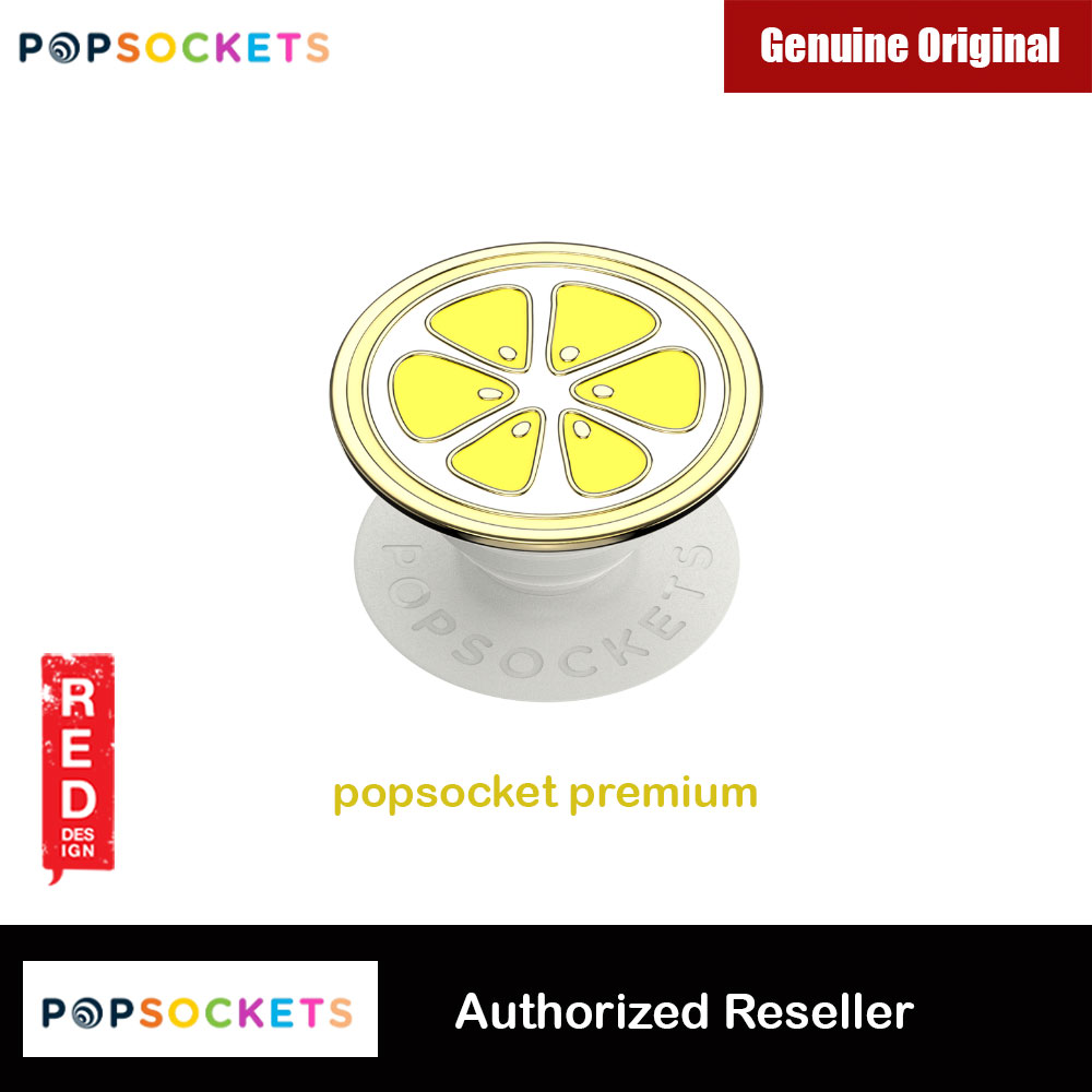 Picture of Popsockets PopGrip Swappable Premium Collection (Enamel Lemon Slice Yellow) Red Design- Red Design Cases, Red Design Covers, iPad Cases and a wide selection of Red Design Accessories in Malaysia, Sabah, Sarawak and Singapore