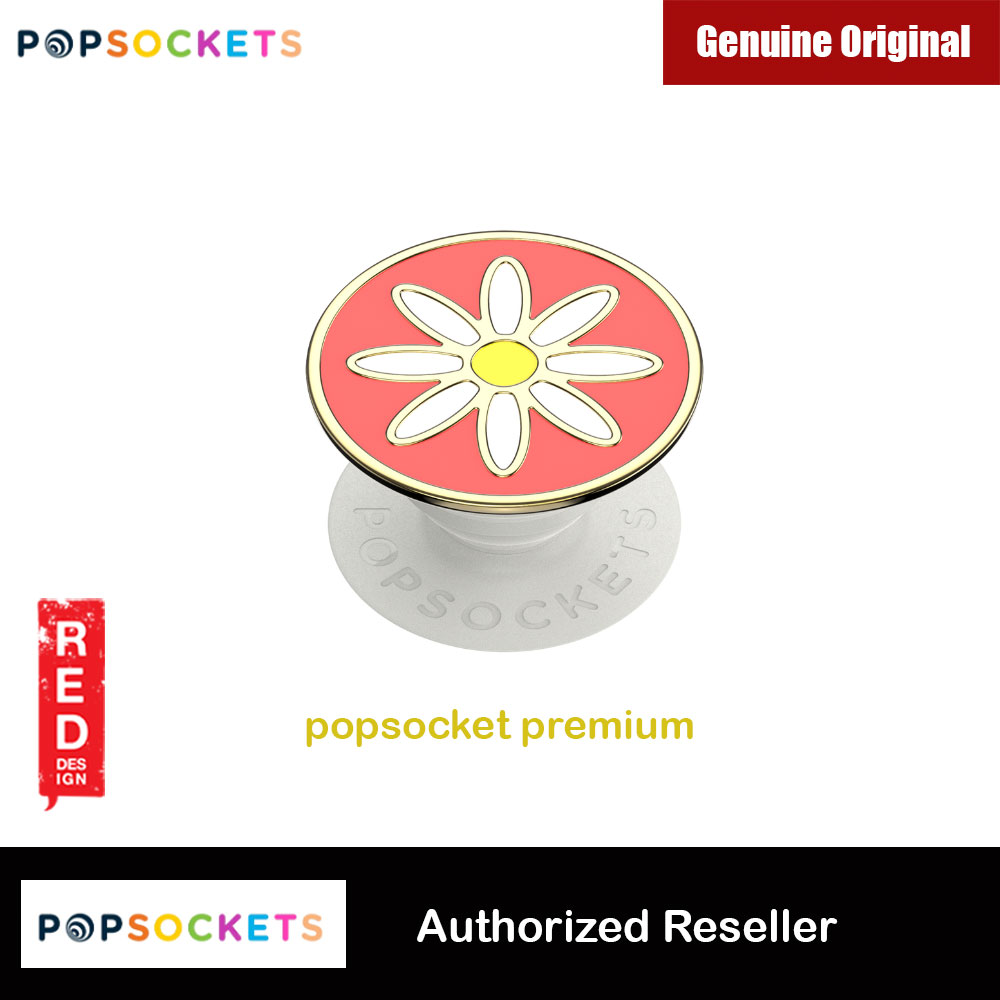 Picture of Popsockets PopGrip Swappable Premium Collection (Enamel Quaint Daisy Coral) Red Design- Red Design Cases, Red Design Covers, iPad Cases and a wide selection of Red Design Accessories in Malaysia, Sabah, Sarawak and Singapore