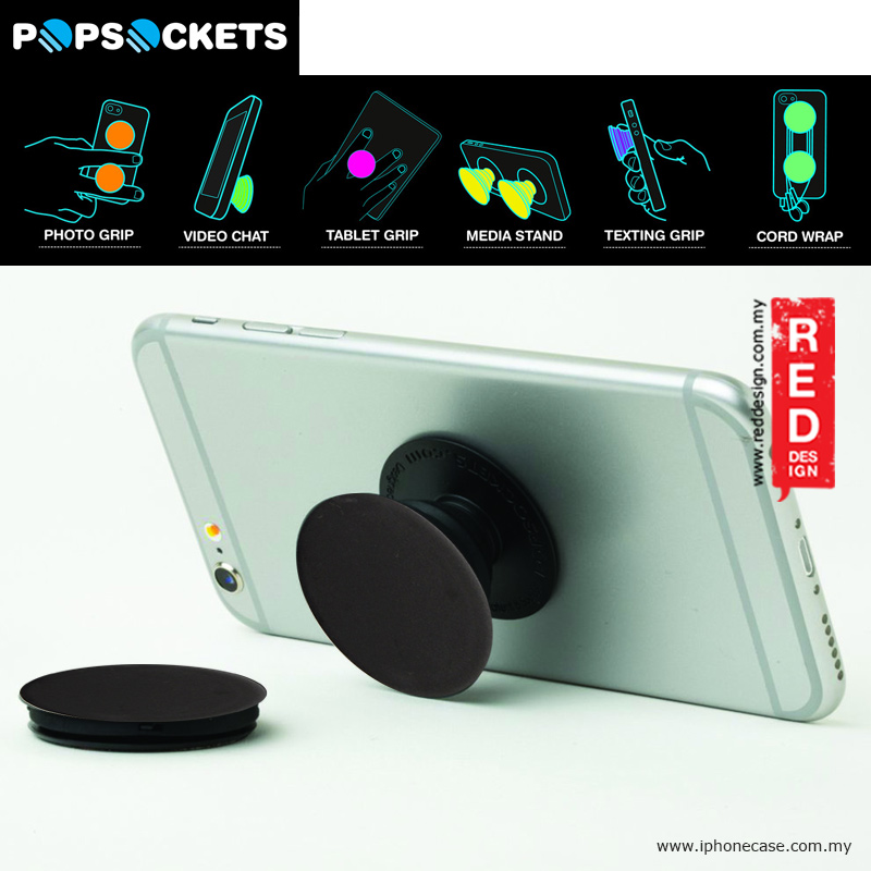 Picture of Popsockets A Phone Grip A Phone Stand An Earbud Management System - Black Red Design- Red Design Cases, Red Design Covers, iPad Cases and a wide selection of Red Design Accessories in Malaysia, Sabah, Sarawak and Singapore