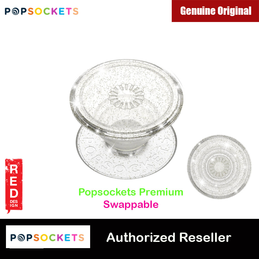 Picture of Popsockets PopGrip Swappable Premium Collection (Clear Glitter Silver) Red Design- Red Design Cases, Red Design Covers, iPad Cases and a wide selection of Red Design Accessories in Malaysia, Sabah, Sarawak and Singapore