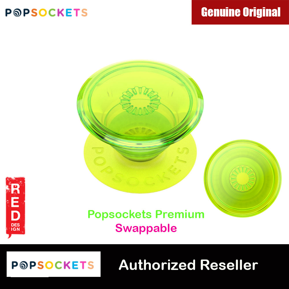 Picture of Popsockets PopGrip Swappable Premium Collection (Neon Glow Blazing Lime) Red Design- Red Design Cases, Red Design Covers, iPad Cases and a wide selection of Red Design Accessories in Malaysia, Sabah, Sarawak and Singapore