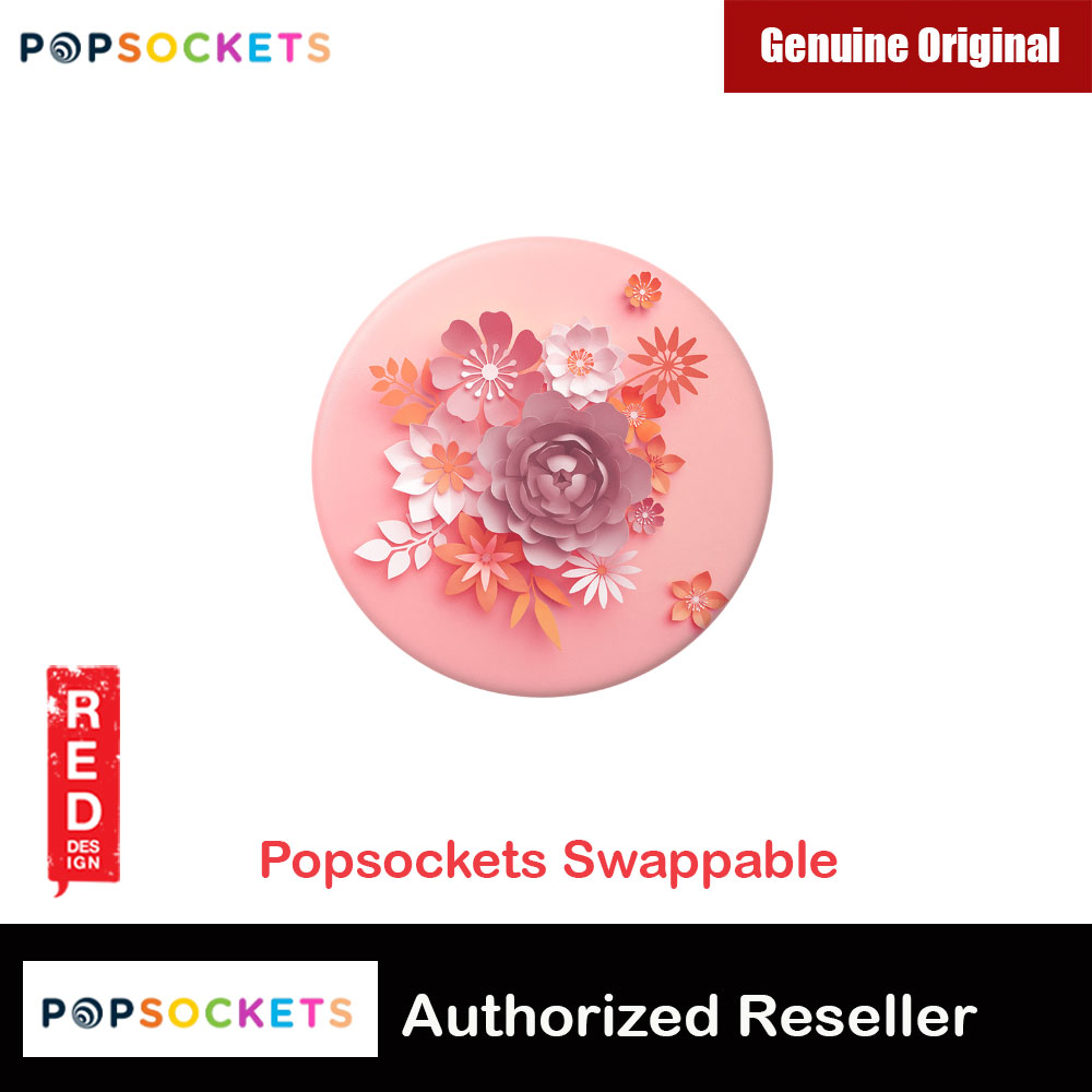 Picture of Popsockets PopGrip Swappable (Paper Posies) Red Design- Red Design Cases, Red Design Covers, iPad Cases and a wide selection of Red Design Accessories in Malaysia, Sabah, Sarawak and Singapore