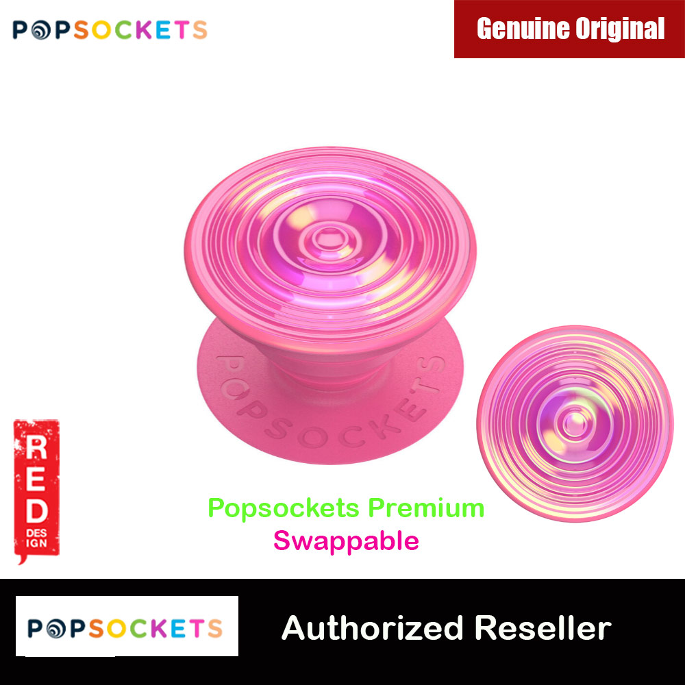 Picture of Popsockets PopGrip Swappable Premium Collection (Ripple Opalescent Pink) Red Design- Red Design Cases, Red Design Covers, iPad Cases and a wide selection of Red Design Accessories in Malaysia, Sabah, Sarawak and Singapore