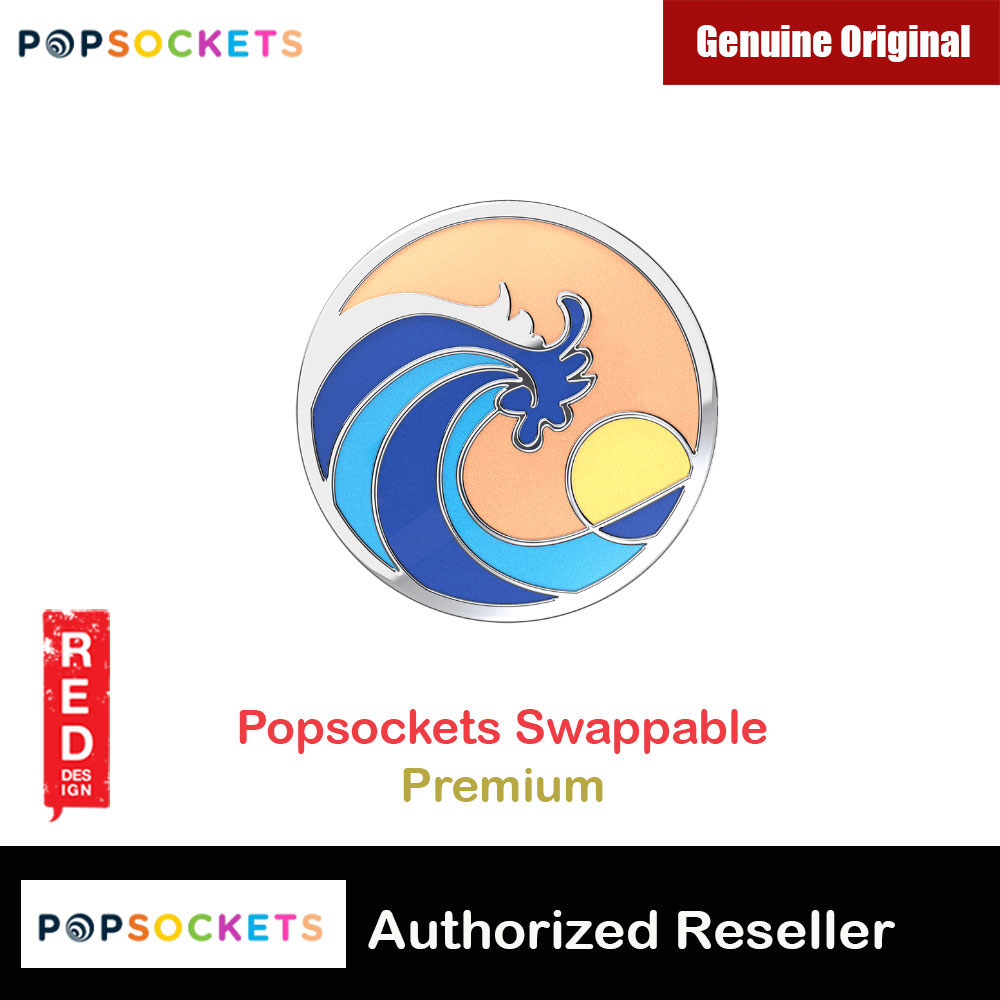 Picture of Popsockets PopGrip Swappable Premium Collection (Ride the Wave Coral) Red Design- Red Design Cases, Red Design Covers, iPad Cases and a wide selection of Red Design Accessories in Malaysia, Sabah, Sarawak and Singapore
