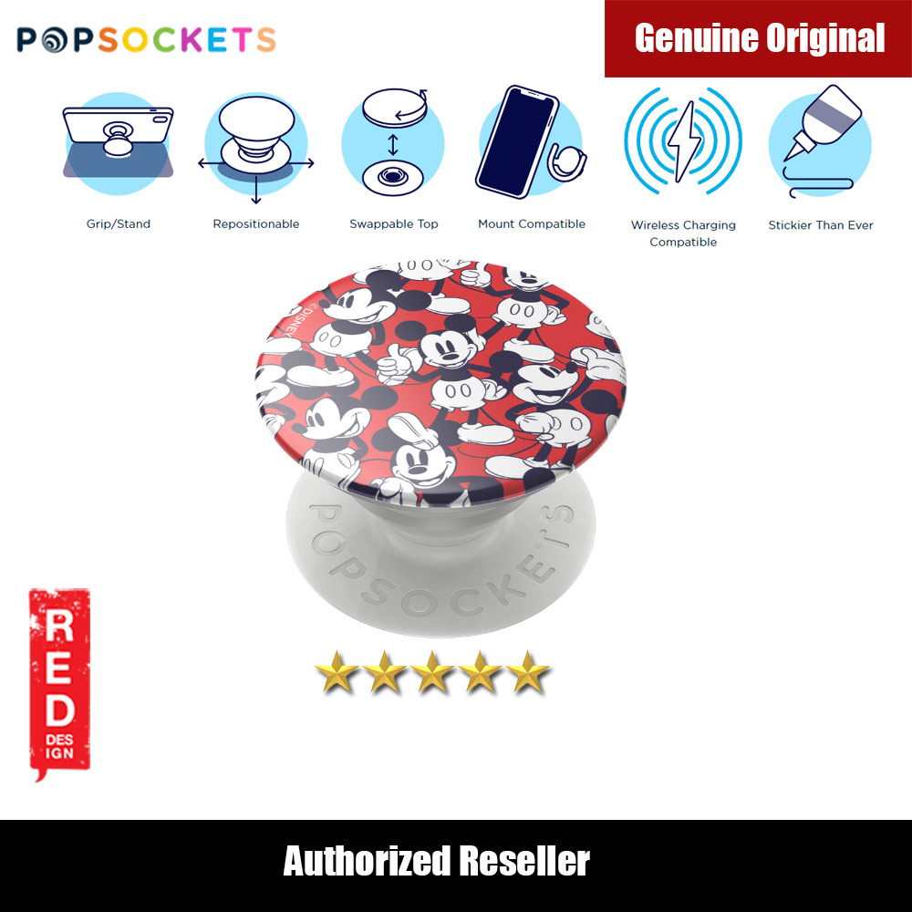 Picture of Popsockets PopGrip Swappable (Mickey Classic Pattern) Red Design- Red Design Cases, Red Design Covers, iPad Cases and a wide selection of Red Design Accessories in Malaysia, Sabah, Sarawak and Singapore