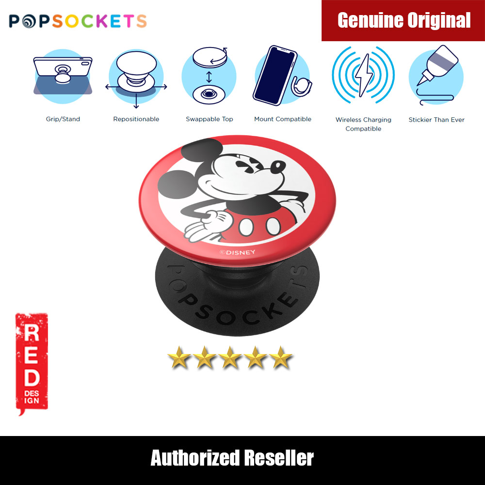 Picture of Popsockets PopGrip Swappable (Mickey Classic) Red Design- Red Design Cases, Red Design Covers, iPad Cases and a wide selection of Red Design Accessories in Malaysia, Sabah, Sarawak and Singapore