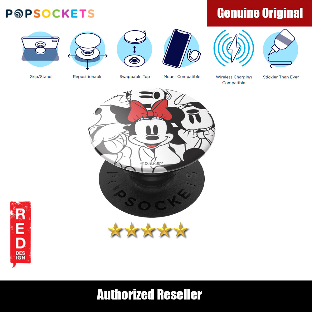 Picture of Popsockets PopGrip Swappable (Minnie Classic Pattern) Red Design- Red Design Cases, Red Design Covers, iPad Cases and a wide selection of Red Design Accessories in Malaysia, Sabah, Sarawak and Singapore