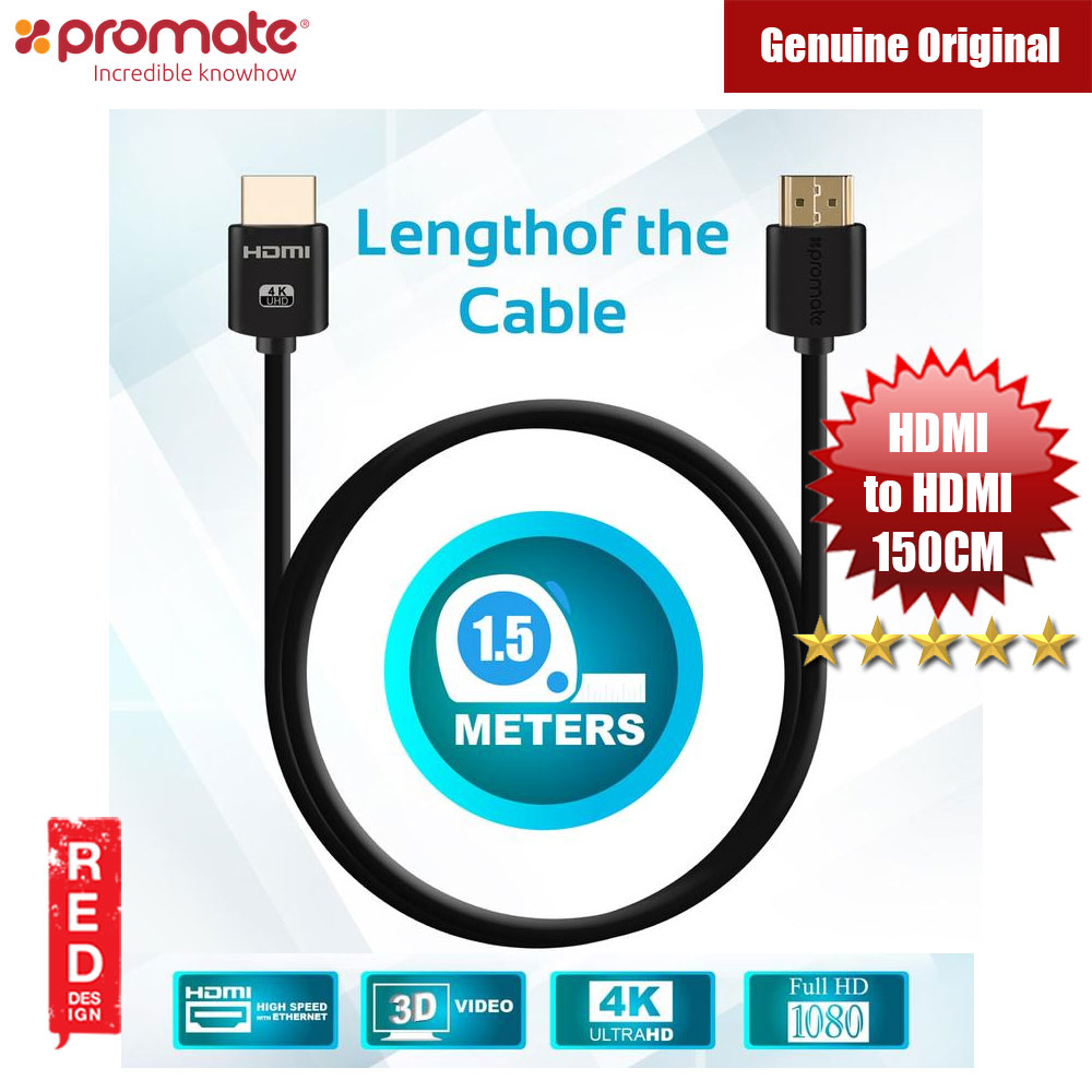 Picture of Promate All-in-One HDMI with Ethernet Cable HDMI Cable 150cm