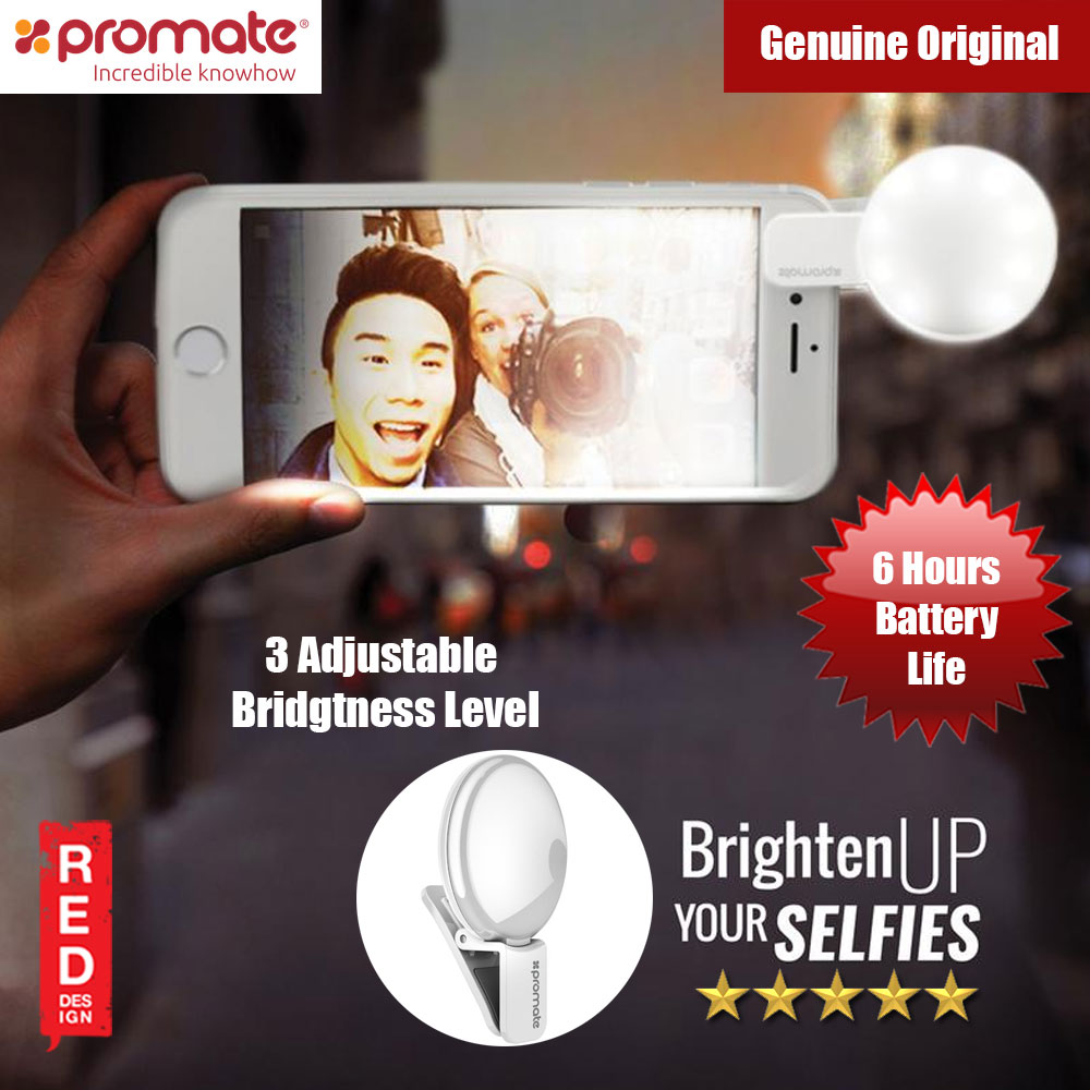 Picture of Promate Ultra-Bright Clip-on Selfie Ring Light (White) Red Design- Red Design Cases, Red Design Covers, iPad Cases and a wide selection of Red Design Accessories in Malaysia, Sabah, Sarawak and Singapore