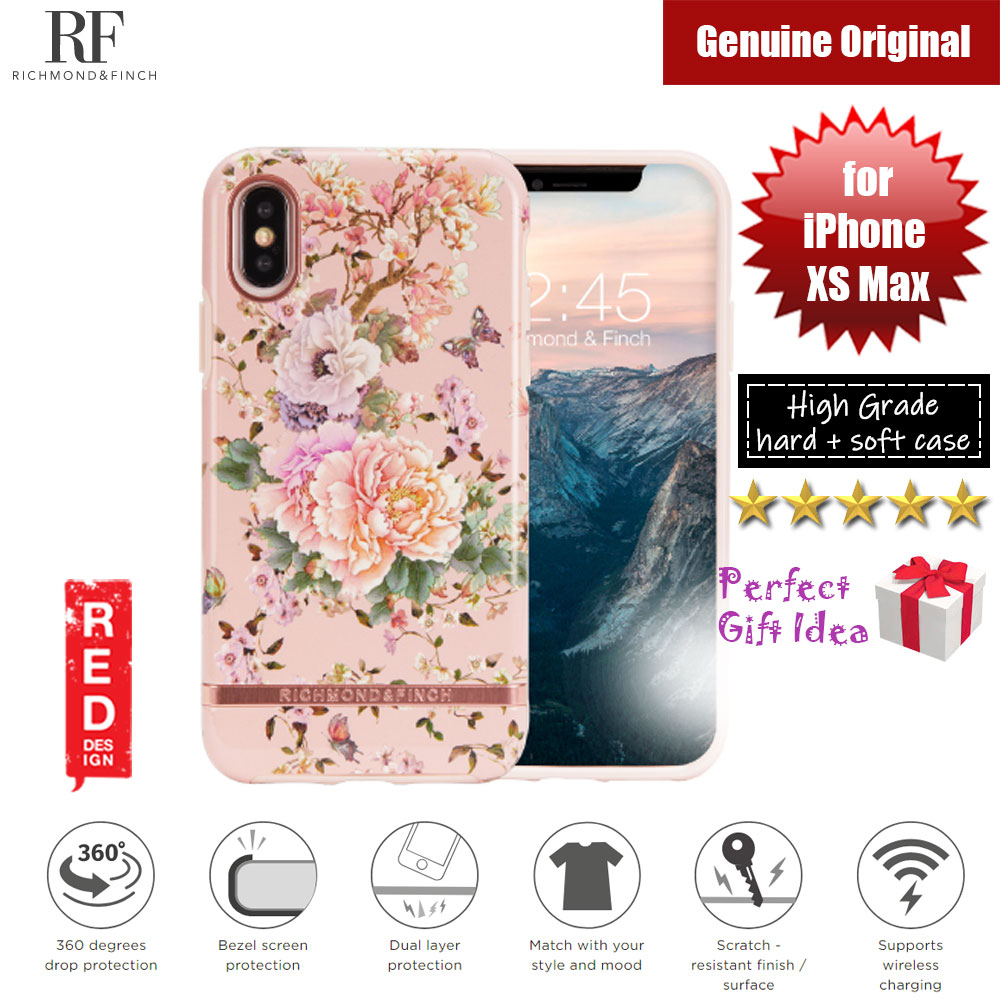 Picture of Richmond and Finch unique design for female protection case for Apple iPhone XS Max (Peonies and Butterflies) Apple iPhone XS Max- Apple iPhone XS Max Cases, Apple iPhone XS Max Covers, iPad Cases and a wide selection of Apple iPhone XS Max Accessories in Malaysia, Sabah, Sarawak and Singapore