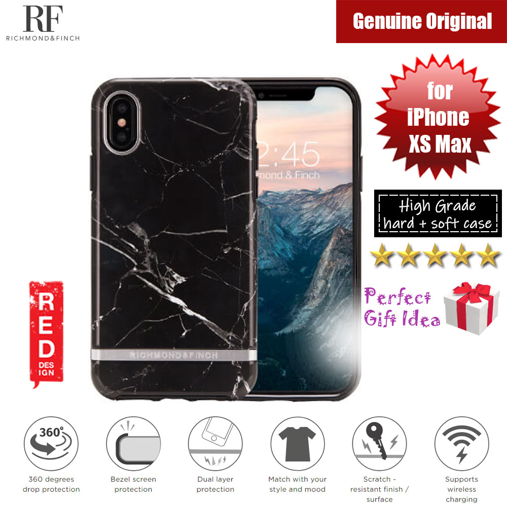 Picture of Richmond and Finch unique design protection case for Apple iPhone XS Max (Black Marble) Apple iPhone XS Max- Apple iPhone XS Max Cases, Apple iPhone XS Max Covers, iPad Cases and a wide selection of Apple iPhone XS Max Accessories in Malaysia, Sabah, Sarawak and Singapore