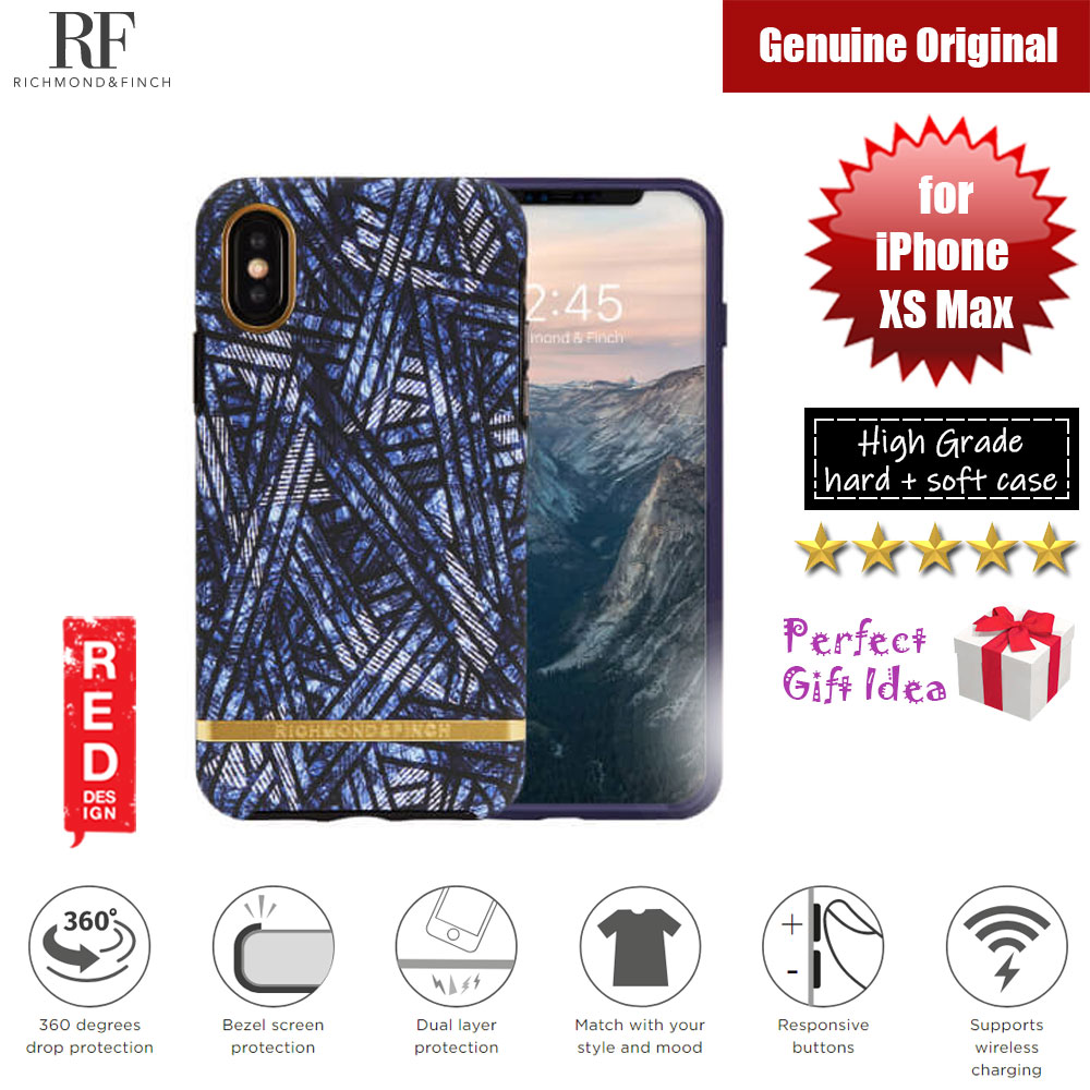 Picture of Richmond and Finch unique design protection case for Apple iPhone XS Max (Blue Denim) Apple iPhone XS Max- Apple iPhone XS Max Cases, Apple iPhone XS Max Covers, iPad Cases and a wide selection of Apple iPhone XS Max Accessories in Malaysia, Sabah, Sarawak and Singapore